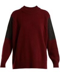CONNOLLY - Contrast-panel Cashmere Jumper - Lyst