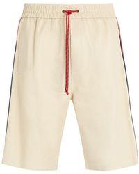Gucci - Drawstring Leather Shorts - Lyst