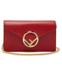 Fendi - Kan I Logo Leather Belt Bag - Lyst