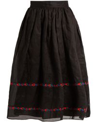 Jupe by Jackie | Seven And Seven Embroidered Cotton-organdy Skirt | Lyst