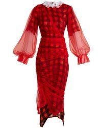 Preen By Thornton Bregazzi - - Olivia Tulle Overlay Dress - Womens - Red Multi - Lyst