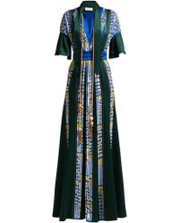 Peter Pilotto - Embellished Satin Evening Gown - Lyst