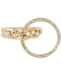 Charlotte Chesnais - Three Lovers Diamonds & Yellow-gold Ring - Lyst