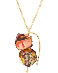 Marni - Flower Petal Pendant Necklace - Lyst