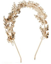 Rosantica By Michela Panero - Maria Gold-plated Pearl-embellished Headband - Lyst