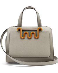 Valextra - Passepartout Medium Leather Bag - Lyst