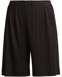 Pleats Please Issey Miyake - Wide-leg Pleated Shorts - Lyst