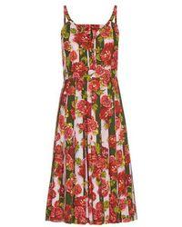 Emilia Wickstead - Juliet Floral And Striped-print Dress - Lyst