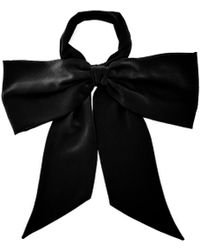 Racil - Oversized Velvet Bow Tie - Lyst