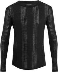 Balmain - Distressed Linen Sweater - Lyst
