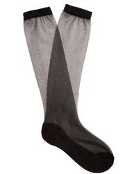 Raey - Sheer Silk-blend Socks - Lyst