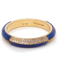 Marc Alary - 18kt Gold, Diamond And Lapis Lazuli Ring - Lyst