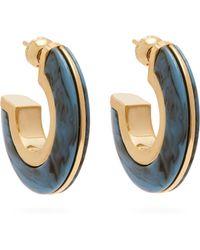 Burberry - Marbled Hoop Earrings - Lyst