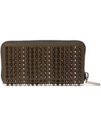 Christian Louboutin - Panettone Zip-around Leather Studded Wallet - Lyst