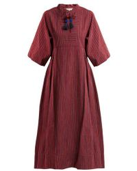 Sea - Ines Bell-sleeve Striped Cotton Dress - Lyst