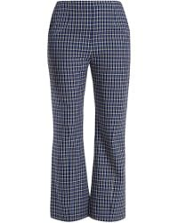 Marni - Checked Kick-flared Wool Trousers - Lyst