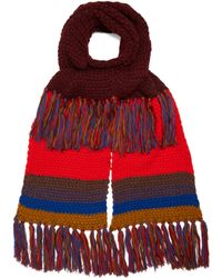 Etro | Contrasting Wool Scarf | Lyst