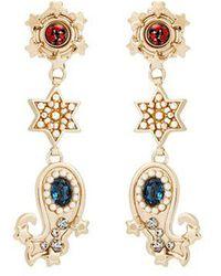 Etro - Crystal-embellished Paisley Motif Earrings - Lyst