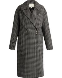 Tibi | Hound's-tooth Wool-blend Coat | Lyst