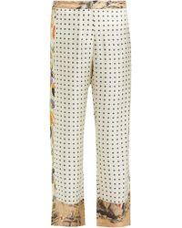 La Prestic Ouiston - Pantalon en soie à pois Riviera - Lyst