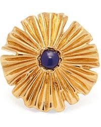 Aurelie Bidermann - Sofia Flower Gold Plated Ring - Lyst