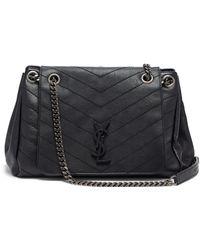 Saint Laurent Nolita Large Monogram Ysl Double Chain Shoulder Bag in ... 9df7161734cf0