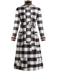 Altuzarra - Agrippina Checked Belted Wool Blend Coat - Lyst