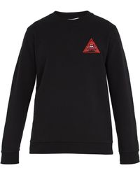 Givenchy - Real Eyes-appliqué Cotton Sweatshirt - Lyst