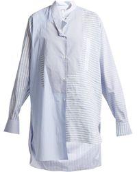 Loewe - Striped Asymmetric Hem Cotton Shirt - Lyst