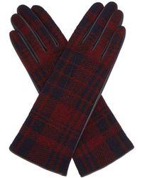 Sonia Rykiel - Tartan Wool And Leather Gloves - Lyst