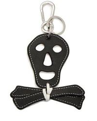 Loewe - Leather Skull Key Ring - Lyst
