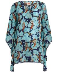 Le Sirenuse - Amy Sharazad-print Silk Top - Lyst