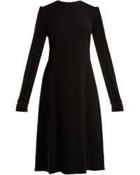Rochas - Open Back Bead Embellished Cady Dress - Lyst