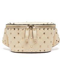 Valentino - Rockstud Spike Quilted Leather Belt Bag - Lyst