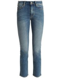 M.i.h Jeans - Nikki High-rise Slim-leg Cropped Jeans - Lyst