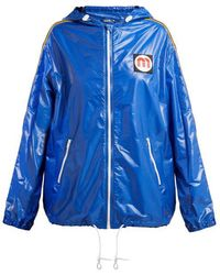 Miu Miu - Nylon Hooded Windbreaker Jacket - Lyst