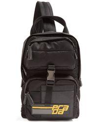 1a1f92eb93b576 Prada - Logo Patch Nylon Backpack - Lyst