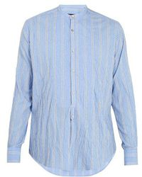 The Gigi - Shedir Wrinkled Cotton-blend Shirt - Lyst