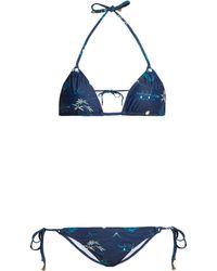 Thorsun - Alex Floral And Palm Tree Print Triangle Bikini - Lyst