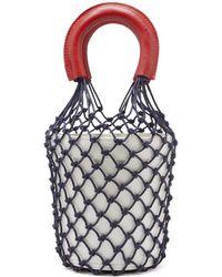 STAUD - Moreau Macrame And Leather Bucket Bag - Lyst