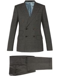 Gucci Double Breasted Wool Suit
