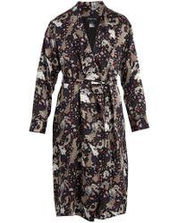 Meng - Floral-print Silk-satin Robe - Lyst