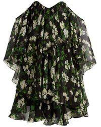 Caroline Constas - Paros Floral-print Silk-crepe Dress - Lyst