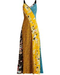 Diane von Furstenberg - Calloway Floral Paisley Print Silk Maxi Dress - Lyst