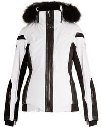 Lacroix - Wave Fur-trimmed Bi-colour Technical Ski Jacket - Lyst