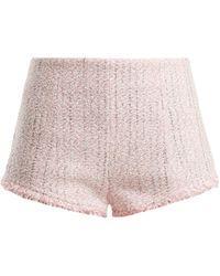 Alessandra Rich - High-rise Tweed Shorts - Lyst