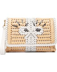 Anya Hindmarch - The Neeson Leather And Straw Clutch - Lyst