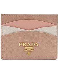 Prada - Scalloped Leather Cardholder - Lyst