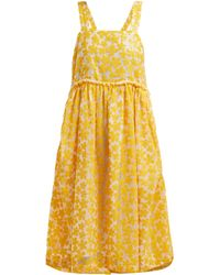 Shrimps - Lucia Sequinned Floral Midi Dress - Lyst