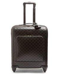 Gucci - Logo-debossed Leather Suitcase - Lyst